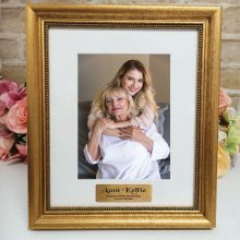60th Birthday Personalised Frame 5x7 Majestic Gold