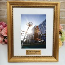 Coach Personalised Frame 5x7 Majestic Gold