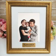 Dad Personalised Frame 5x7 Majestic Gold