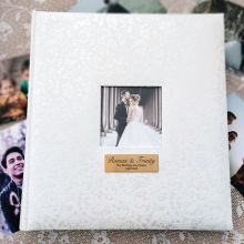 Wedding Drymount Photo Album Lace