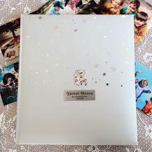 Personalised Christening Drymount Photo Album  - Baby Bear