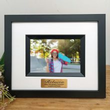 16th Birthday Personalised Photo Frame Silhouette Black 4x6