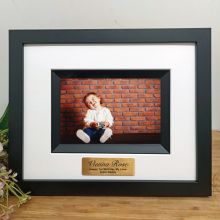 1st Birthday Personalised Photo Frame Silhouette Black 4x6