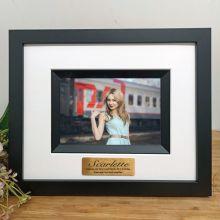 21st Birthday Personalised Photo Frame Silhouette Black 4x6