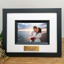 Engagement Photo Frame Silhouette Black 4x6