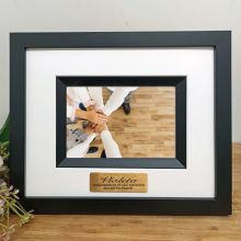 Retirement Personalised Photo Frame Silhouette Black 4x6