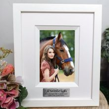 16th  Birthday Personalised Photo Frame Silhouette White 4x6