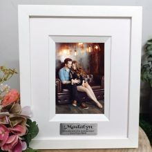 21st  Birthday Personalised Photo Frame Silhouette White 4x6