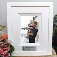 70th Birthday Personalised Photo Frame Silhouette White 4x6