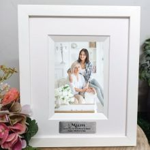 Mum Personalised Photo Frame Silhouette White 4x6