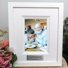 Retirement Personalised Photo Frame Silhouette White 4x6