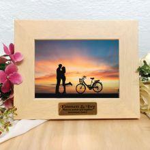 Anniversary Limewash Wood Photo Frame
