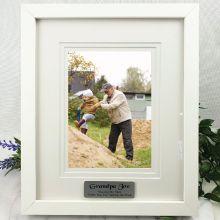 Grandpa Personalised Photo Frame White Timber Verdure 5x7