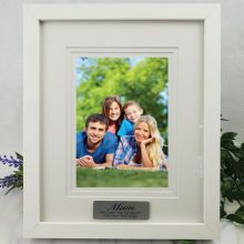 Mum Personalised Photo Frame White Timber Verdure 5x7