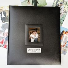 Personalised Wedding Photo Album 500 Black