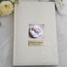 Personalised Cream Lace Baptism Photo Album - 300
