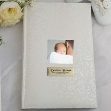 Personalised Cream Lace Christening Photo Album - 300