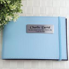 Personalised Memorial Baby Brag Photo Album - Blue