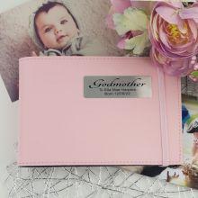 Personalised Godmother Baby Girl Brag Photo Album - Pink