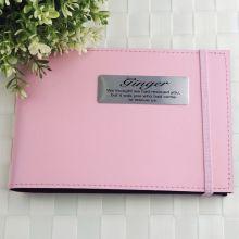 Personalised Pet Memorial Brag Photo Album - Pink