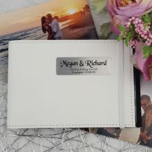 Personalised Engagement Brag Photo Album - White