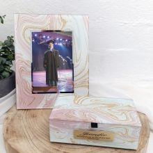 Graduation Marmo Frame & Jewel Box Set