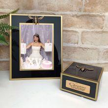13th Black Bee 5x7 Frame & Jewel Box Set