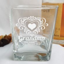 Grandma Engraved Personalised Scotch Spirit Glass