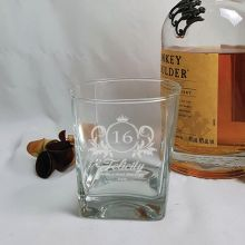 16th Birthday Engraved Personalised Scotch Spirit Glass (F)