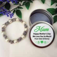 Silver Bracelet  with Personalised Mum Tin