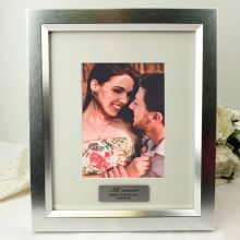 Silver Anniversary Personalised Photo Frame 5x7 Photo