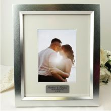 Engagement Personalised Photo Frame 5x7 Photo Silver