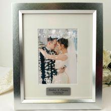 Wedding Personalised Photo Frame 5x7 Photo Silver