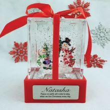 Christmas LED Water Globe Present - Snowman
