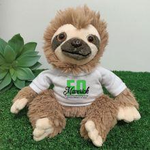 50th Birthday Personalised Sloth Plush - Curtis