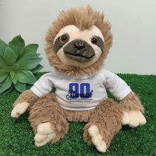 90th Birthday Personalised Sloth Plush - Curtis
