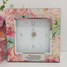 Nan Glass Desk Clock - Peony