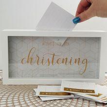 Christening Message Keepsake Box