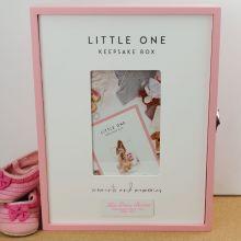 Personalised Little One Baby Girl Keepsake Box