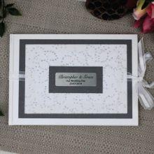 Personalised Wedding Guest Book Keepsake Album- Filigree Sparkle