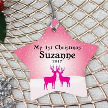 Personalised 1st Christmas Decoration - Star