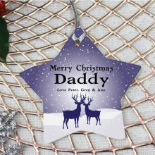 Personalised Dad Christmas Decoration - Star