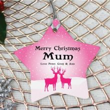 Personalised Mum Christmas Decoration - Star