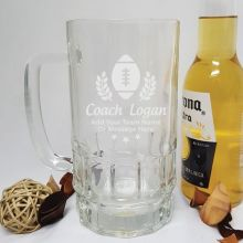 Football Coach Engraved Personalised Glass Beer Stein