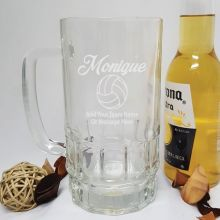 Netball Coach Engraved Personalised Glass Beer Stein