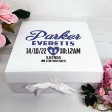 Baby Keepsake Box White Hamper Gift Box