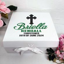 Christening Keepsake Box White Hamper Gift Box