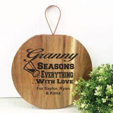 Grandma Seasons Everything With Love Wood Hanger