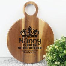 Queen of The Kitchen Acacia Board - Nana