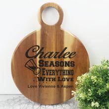 Seasons Everything With Love Acacia Display Board